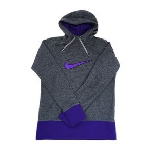 Nike Gray Therma-Fit Pullover Hooded Sweater